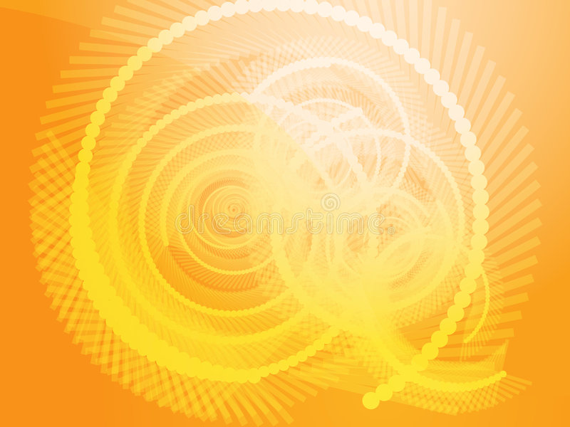 Geometric spirals. Abstract geometric spiral design wallpaper background illustration stock illustration