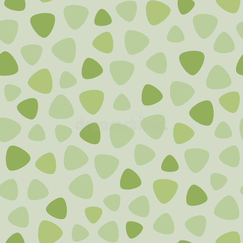 Geometric spots vector seamless pattern. Fresh green colors royalty free illustration
