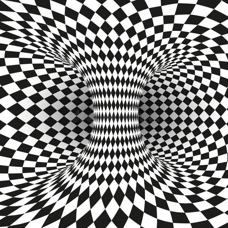 Free Geometric Square Black And White Optical Illusion. Abstract Wormhole Tunnel. Abstract Design Frame Of Wormhole Royalty Free Stock Images - 138345009