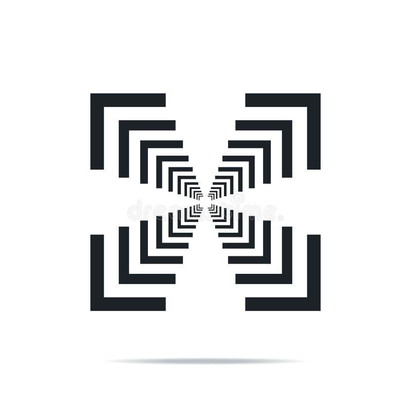 Geometric Square Space Business Company Stock Vector Logo Design stock illustrationer