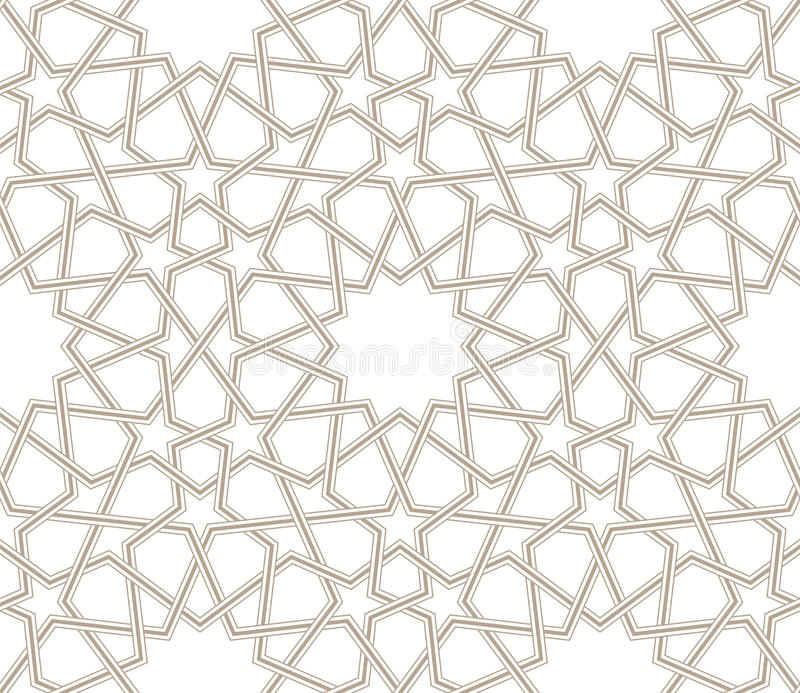 Geometric star pattern grey lines with white background stock illustration