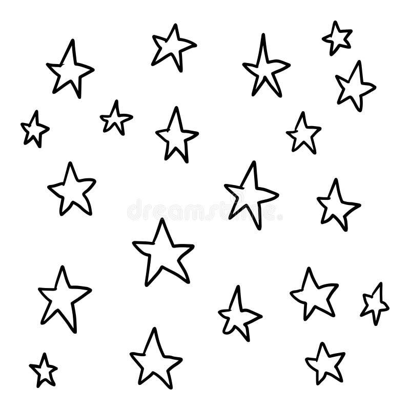 Geometric star pattern handdrawn royalty free illustration