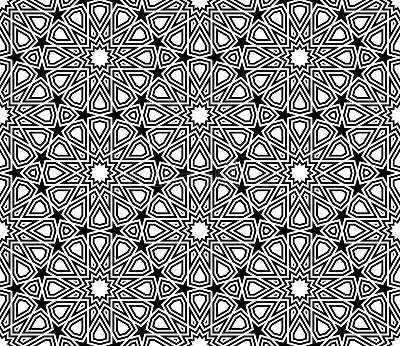 Geometric Star Shape pattern vector stock illustration