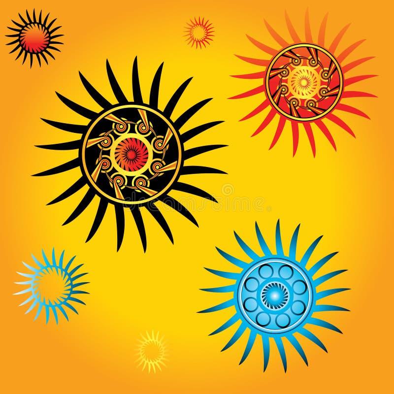 Geometric star shapes vectors. Geometric decorative star shapes vectors vector illustration