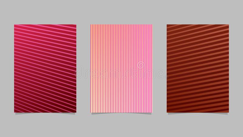 Geometric stripe set - gradient  abstract vector brochure templates vector illustration