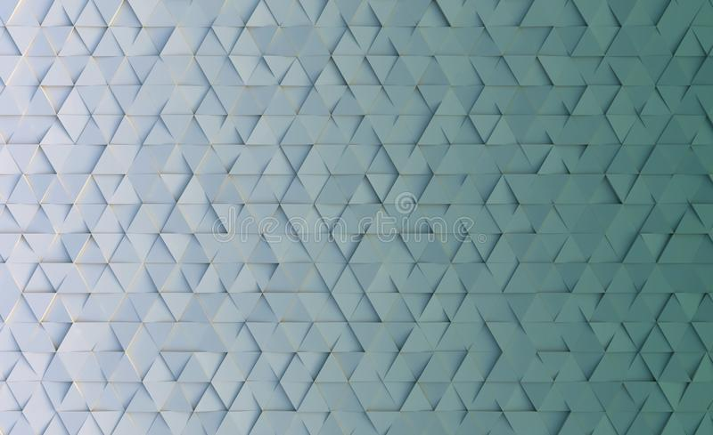 Geometric style background with triangles. 3d rendering stock illustration