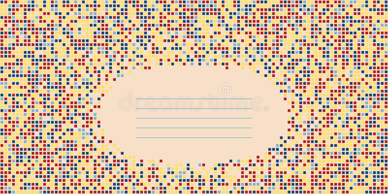 Geometric template with copy space for text. Abstract background vector illustration
