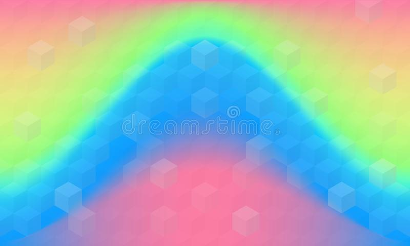 Geometric Texture With Rainbow Background royalty free illustration