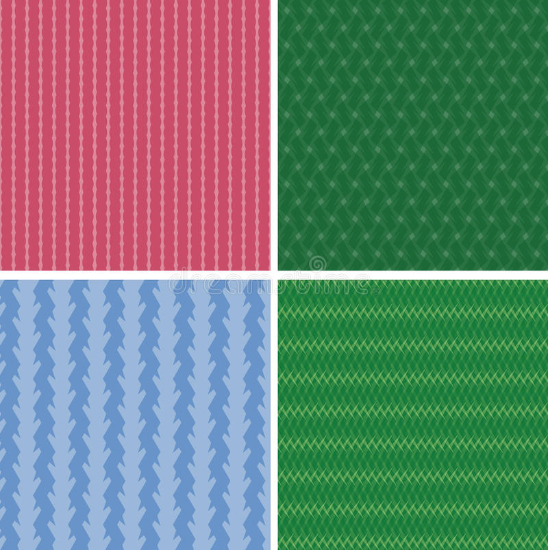 Geometric texture set royalty free illustration