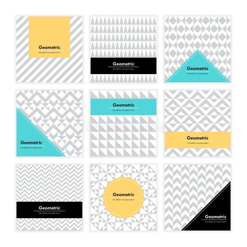 Geometric Texture Set 006 stock illustration