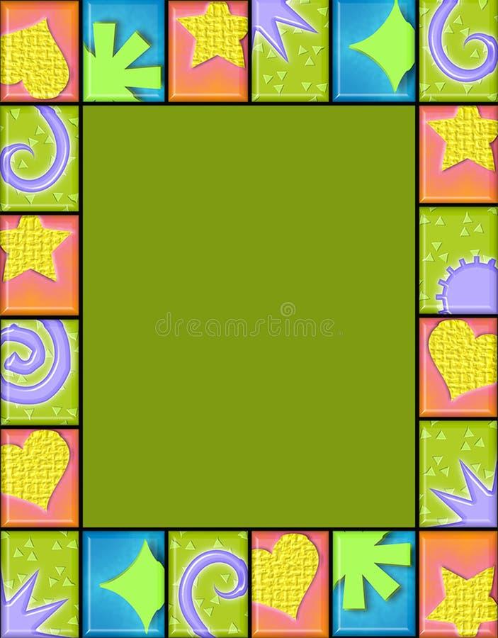 Geometric tile frame royalty free illustration
