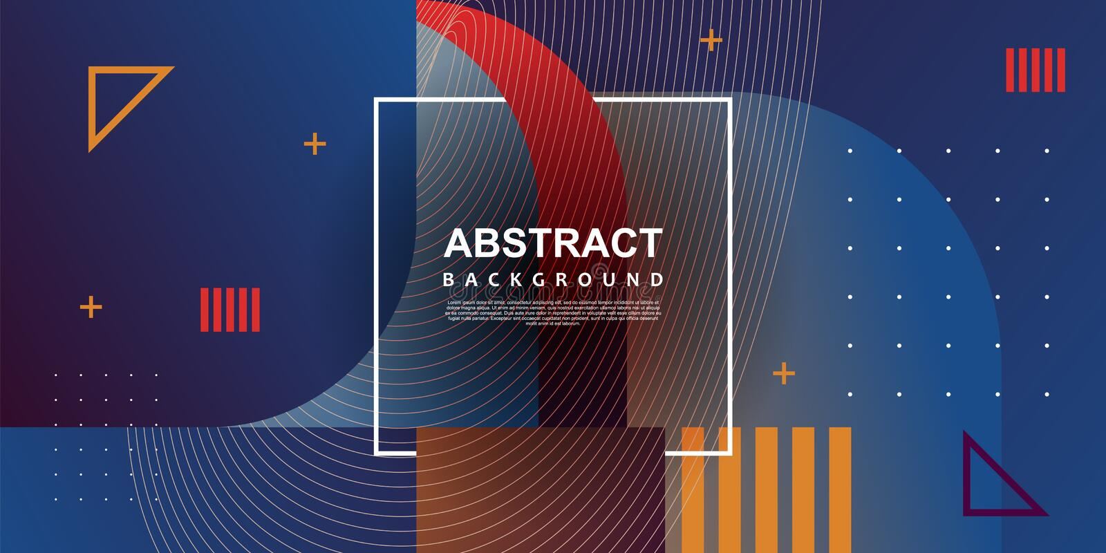 Geometric trendy design background abstract memphis modern design royalty free stock images