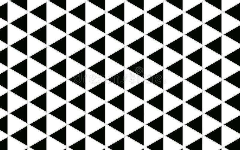 Geometric Triangle black and white Pattern abstract background w vector illustration