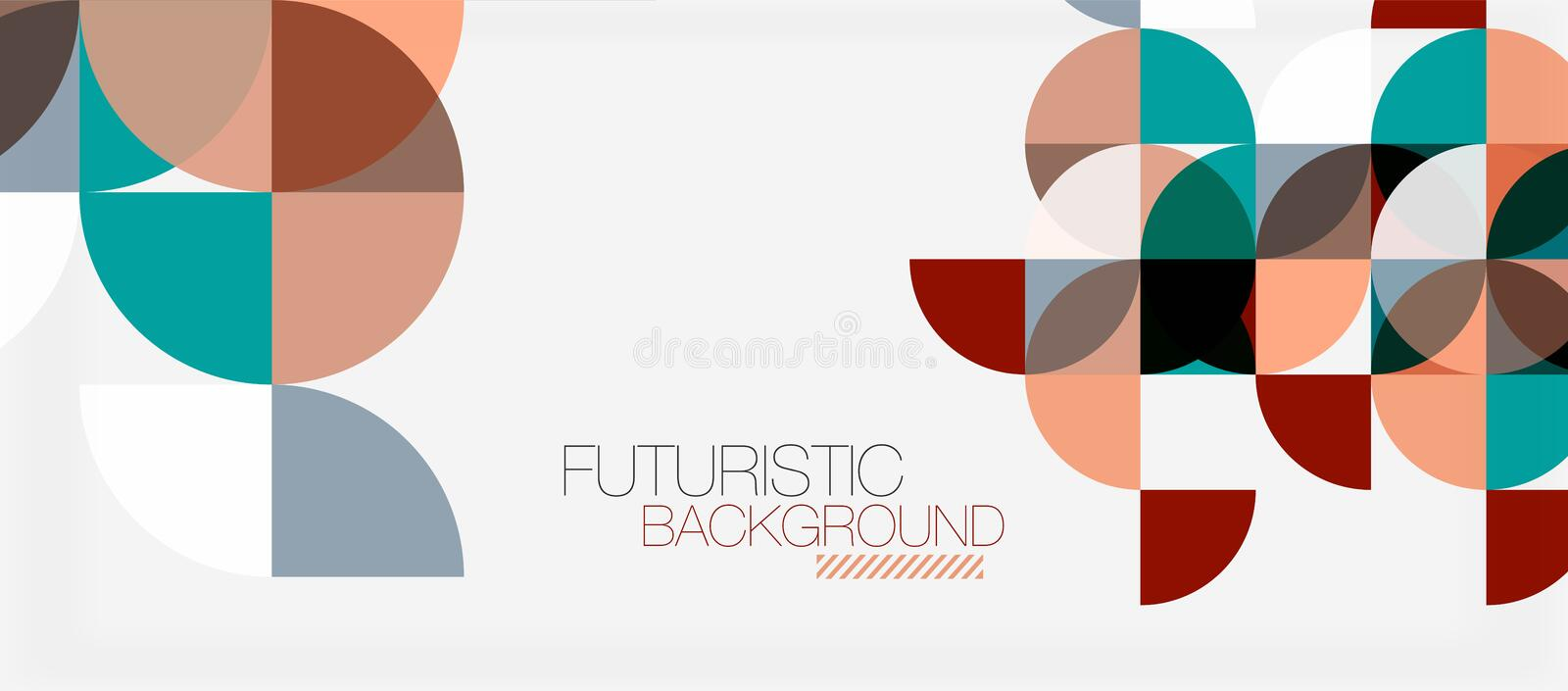 Geometric triangle and circle shape, wide abstract background vector illustration
