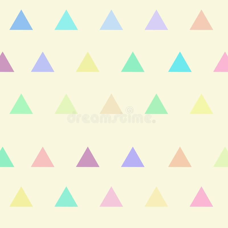 Geometric triangle with pastel color background for printing.Creative Design Templates , illustration vector illustration