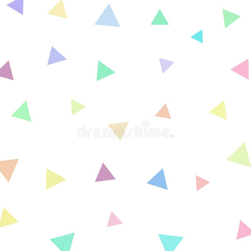 Geometric triangle with pastel color background for printing.Creative Design Templates , illustration stock illustration