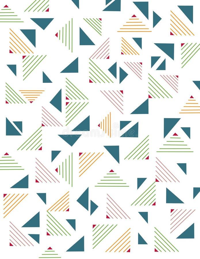 Geometric seamless pattern. Illustration. Pattern. Retro. Geometric shapes. Mosaic backdrop royalty free illustration