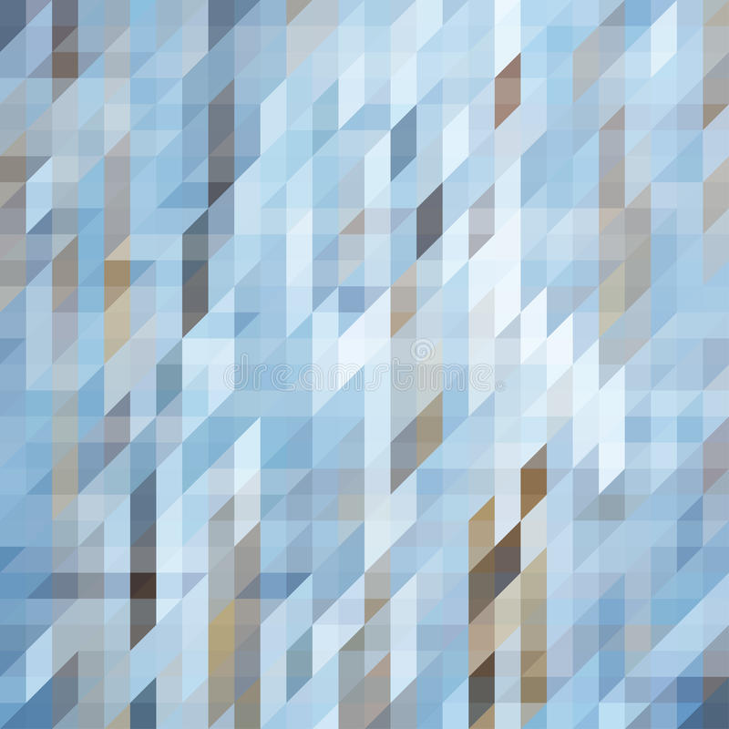 Geometric Triangular Abstract Background in Cold Colors vector illustration
