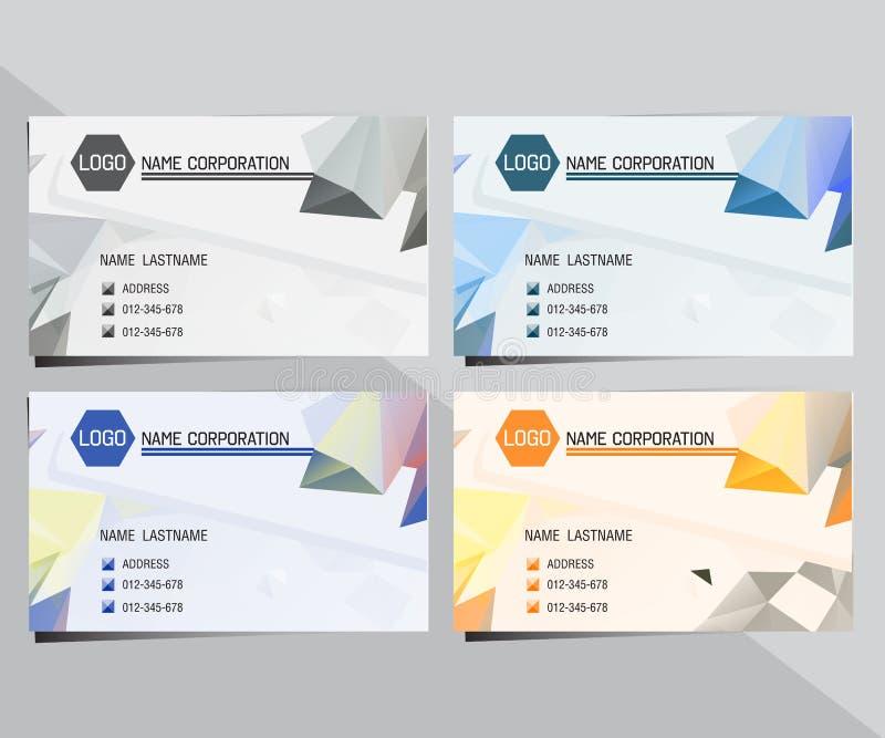 geometric triangular business card stock vector illustration of