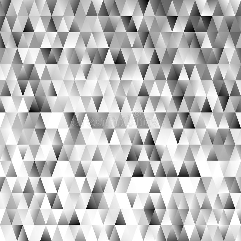 Geometric triangular polygon pattern background - modern gradient vector graphic with grey triangles. Geometric triangular polygon pattern background - modern vector illustration