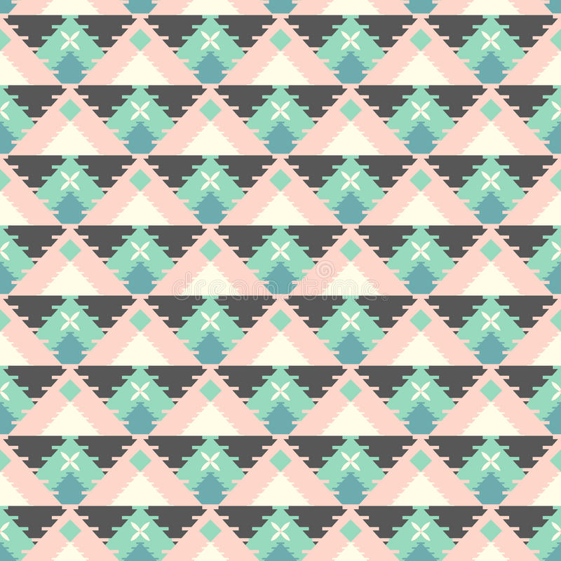 Geometric tribal pattern royalty free illustration