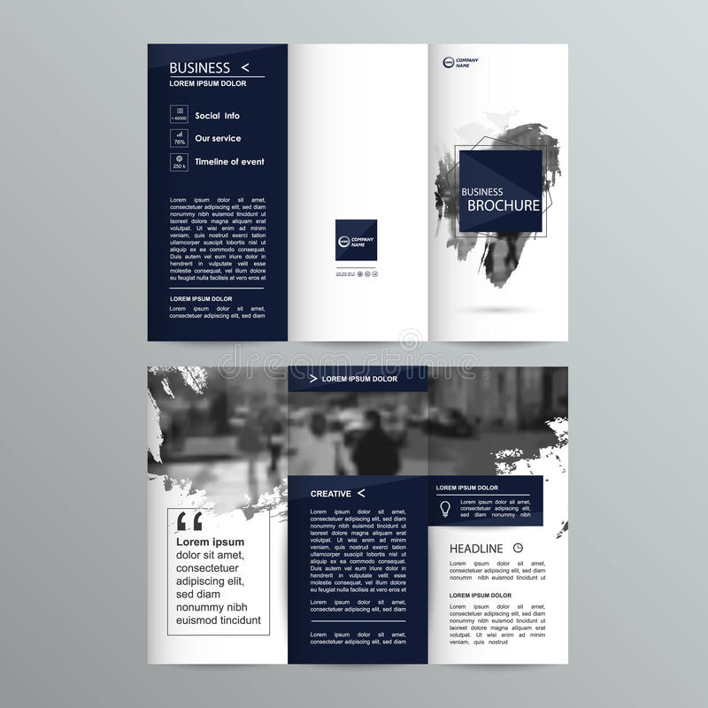Geometric Trifold Business Brochure template royalty free illustration