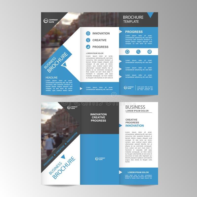 Geometric Trifold Business Brochure template. Geometric Trifold Business Brochure Leaflet Flyer or booklet template. Flat design set. Vector Illustration vector illustration