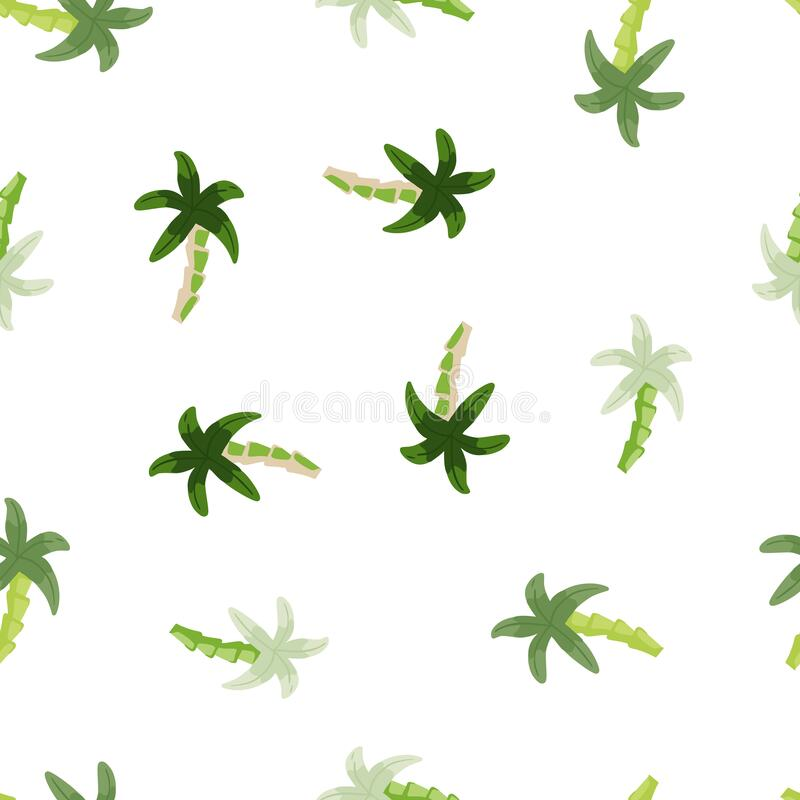 Free Geometric Tropical Palm Tree Seamless Pattern. Cute Green Palm Wallpaper Stock Images - 225771244