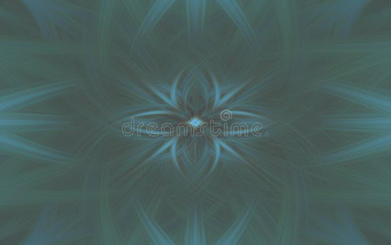 Geometric turquoise pattern background fractal. motive royalty free illustration