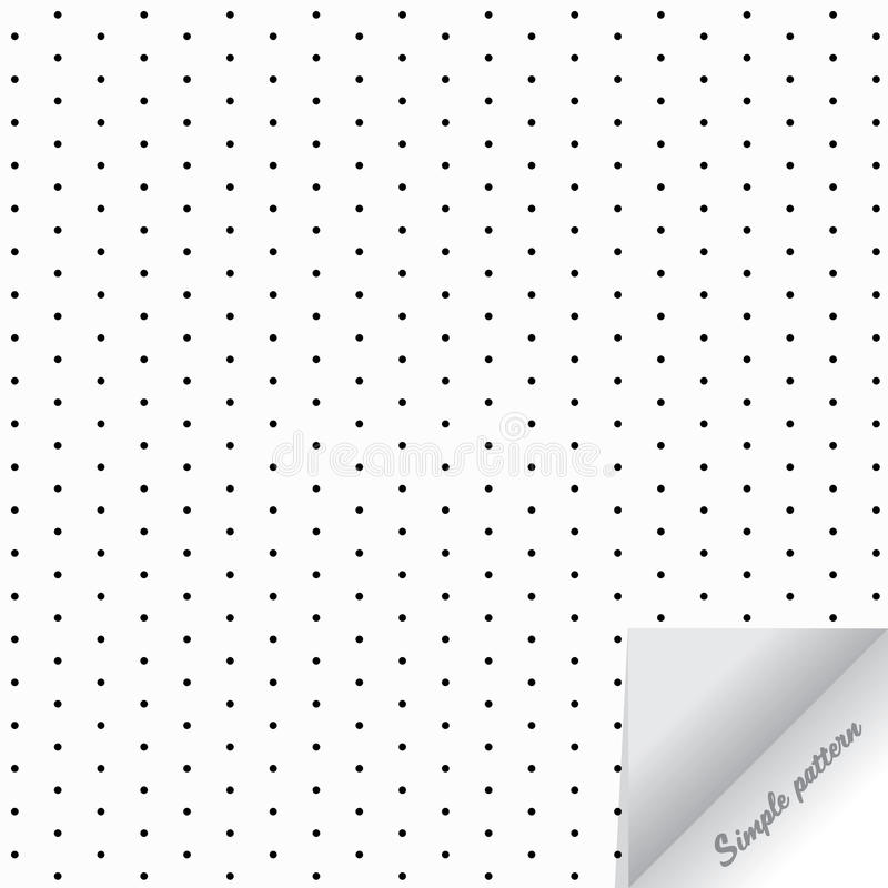 Geometric vector pattern repeat dotted, circle, gray polka dot on white background with realistic paper flip royalty free illustration