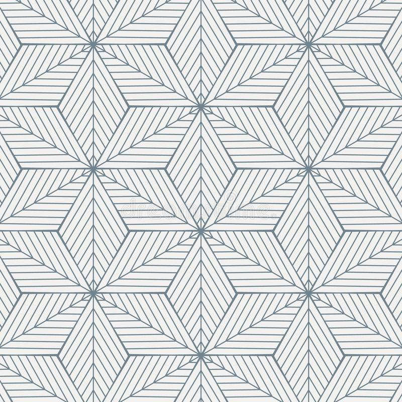 Geometric vector pattern, repeating linear diagonal angle on rhombus shape connected each, abstract star, flower. Graphic clean for fabric, wallpaper, paint vector illustration