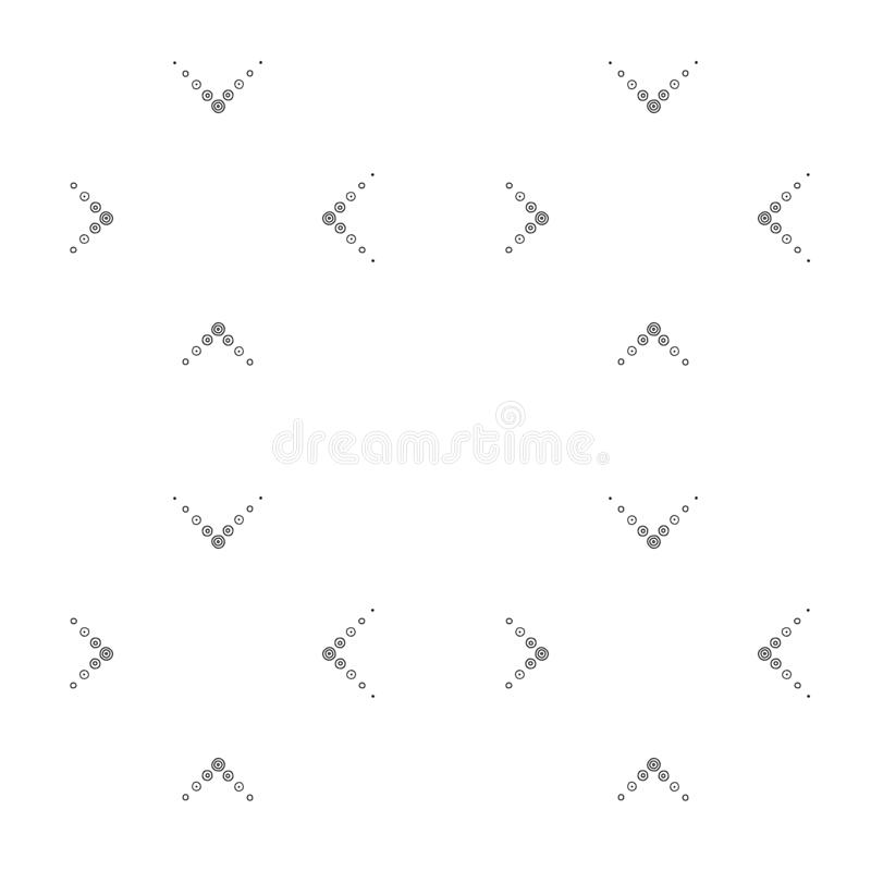 Geometric vector seamless pattern with dotted lines. Abstract background. Graphic black and white Illustration vector illustration