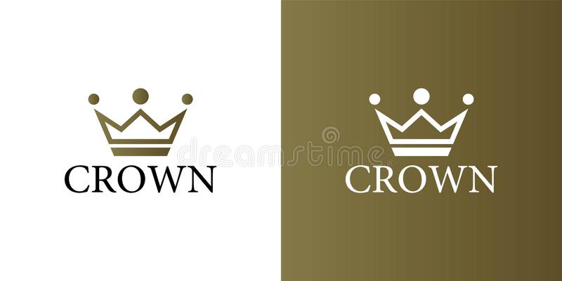 Geometric Vintage Creative Crown abstract Logo design vector template. Vintage Crown Logo Royal King Queen concept symbol Logotype vector illustration