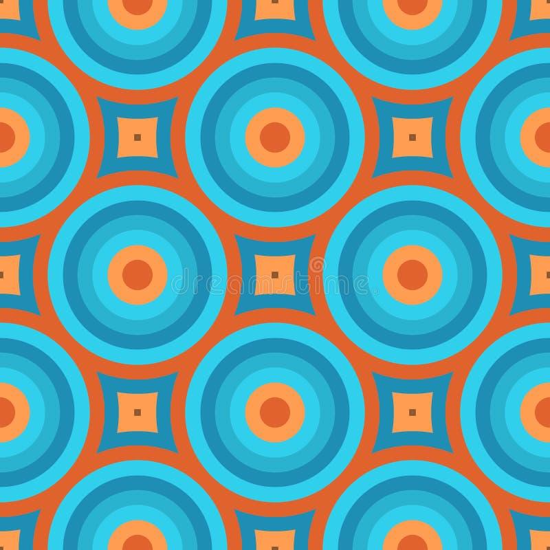 Retro Wallpaper Seamless Pattern stock illustration