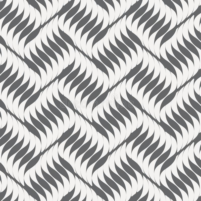 Geometric wavy pattern. Repeating vector texture. Contemporary stylish texture. Geometric striped ornament. stock illustration