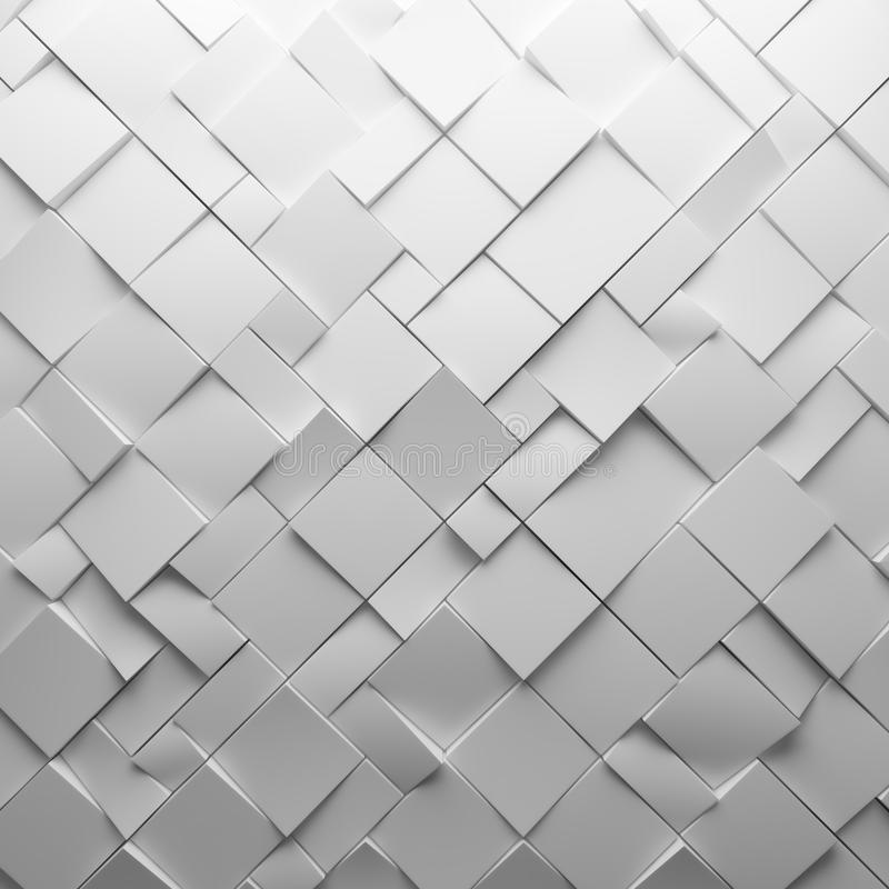 Geometric white abstract polygons, as tile wall. Interior room royalty free stock photo
