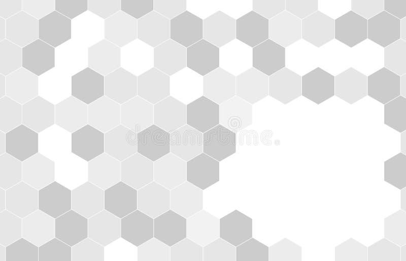 Geometric white  Hexagonal Shapes Background.vector- royalty free stock image