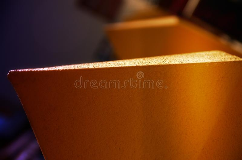 Geometrical Abstract. Geometrical architectural detail with blurred background royalty free stock photos