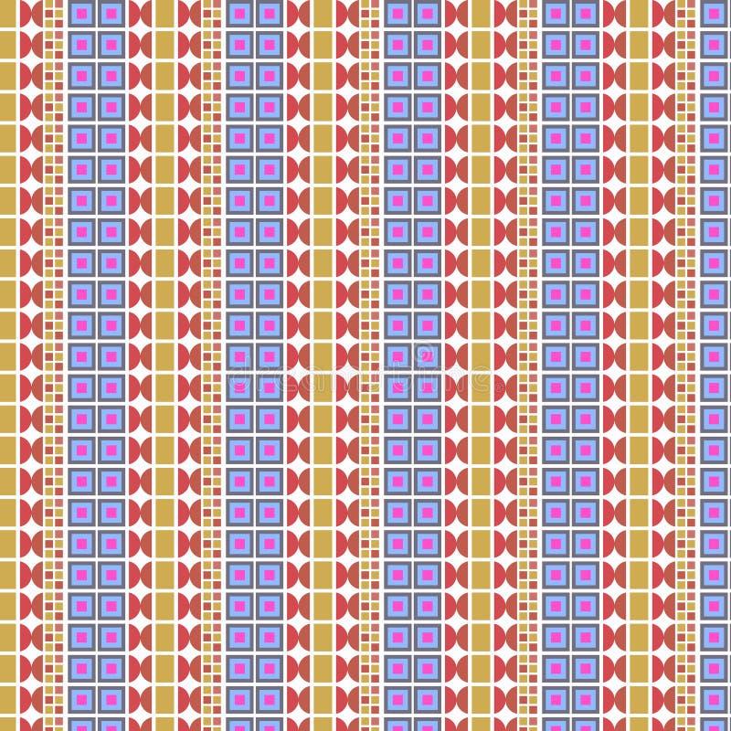 Geometrical abstrakcjonistyczna nowożytna żywa ilustracja ilustracja wektor