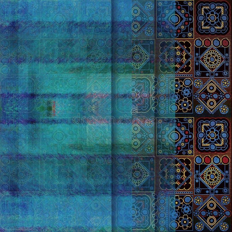 Geometrical abstrakcjonistyczny podławy barwiony tło zdjęcia royalty free