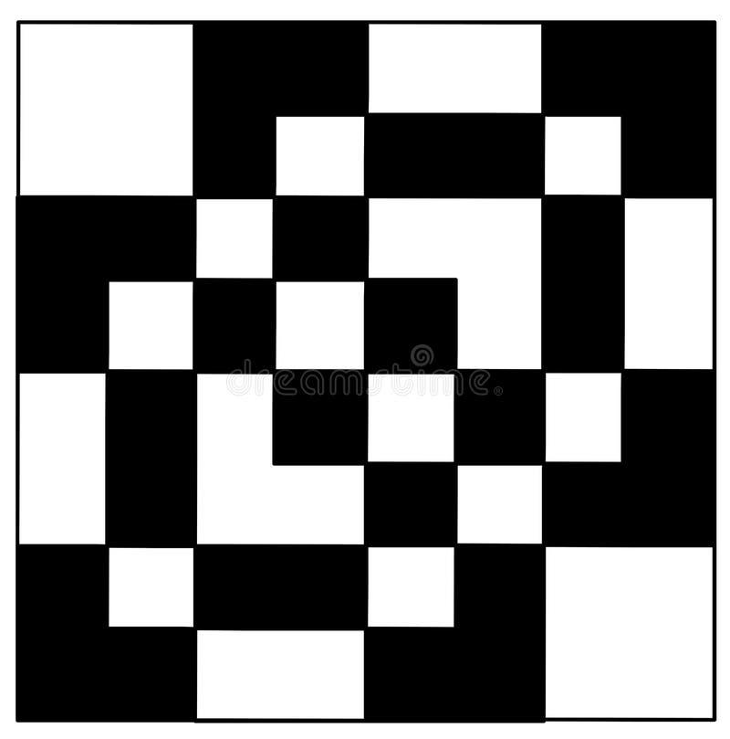 Geometrical black and white pattern shape royalty free stock photos