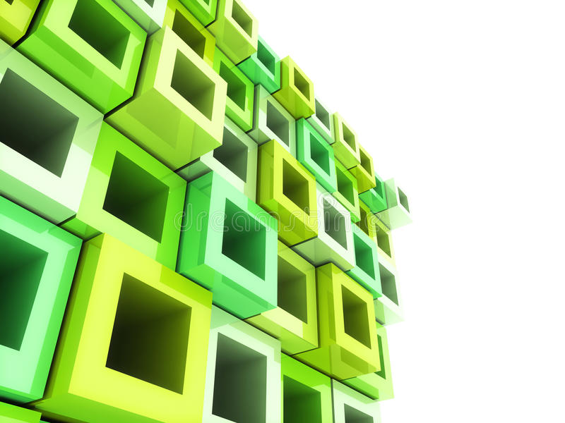 Geometrical green frame background