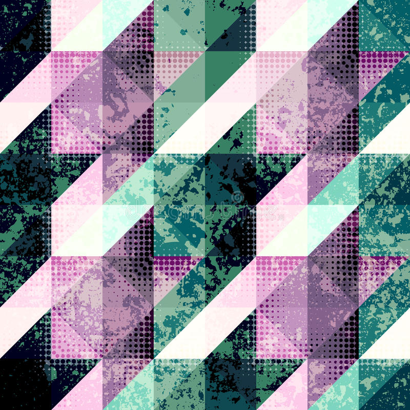 Geometrical Hounds-tooth pattern. Seamless background pattern. Geometrical Hounds-tooth pattern in abstract grunge style royalty free illustration