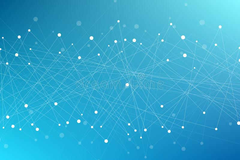 Geometrical modern background of flying triangles. Connected triangles. Plexus. Backdrop for your design. Vector illustration royalty free stock photos