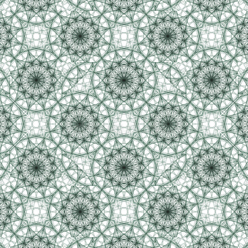 Geometrical Ornate Seamless Pattern. Digital collage technique geometric ornate seamless pattern design in turquoise and white colors stock illustration