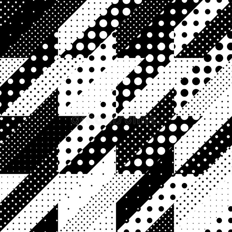 Geometrical patchwork pattern. Seamless background pattern. Geometrical Hounds-tooth pattern in a patchwork style royalty free illustration