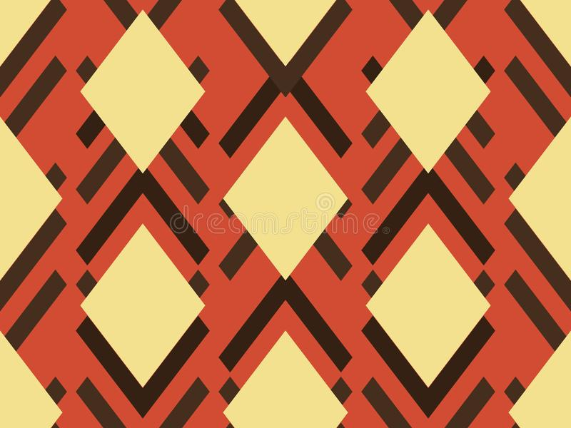 Geometrical pattern of rhombuses. geometric pattern. ethnic seamless ornament. Abstract background - colorful lines stock illustration
