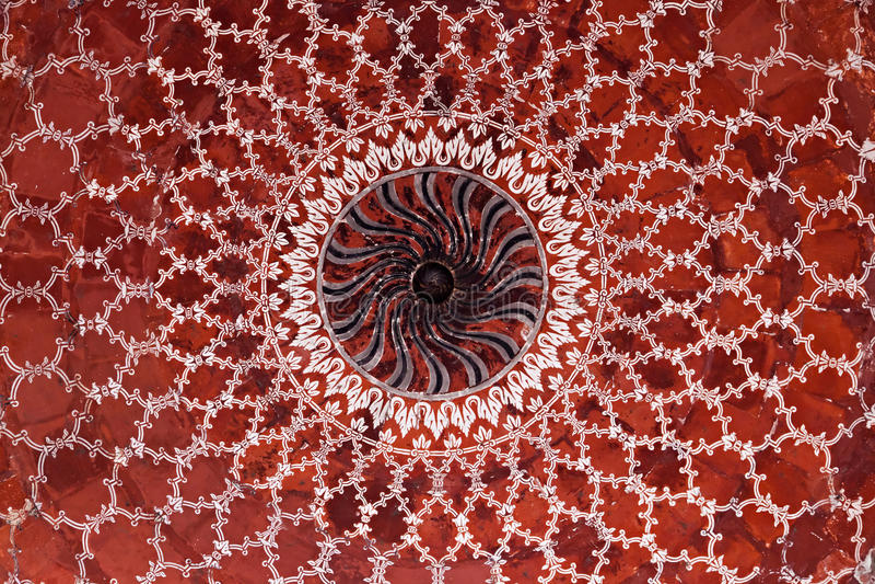 Geometrical pattern on Taj Mahal royalty free stock photography