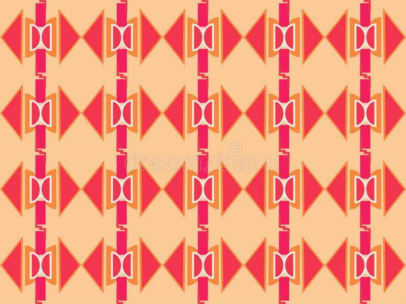 Geometrical shape repetitive traditional ethnic pattern background 16. Geometrical repetitive ethnic background pattern suitable for book cover, wallpaper royalty free illustration