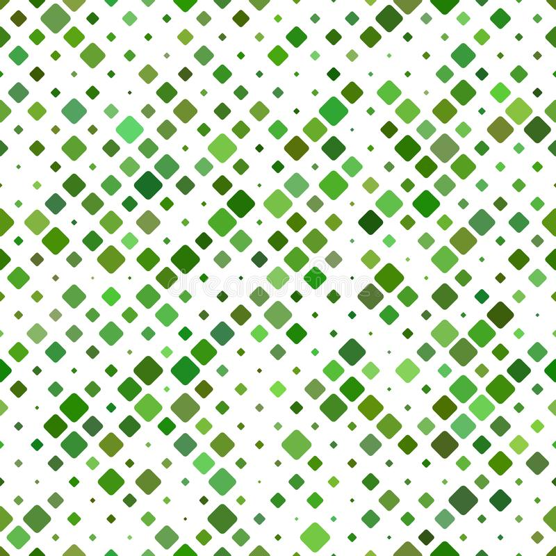 Geometrical rounded square pattern - vector tile mosaic background design royalty free illustration